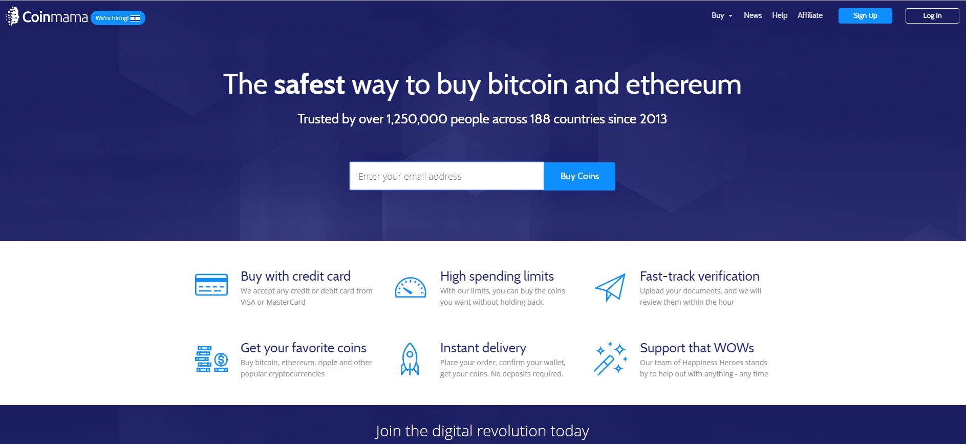 Coinmama Review – Buy your Favorite Cryptocurrency Easily